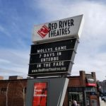 Picture of the Red river sign