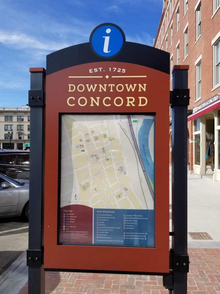 Sign of downtown