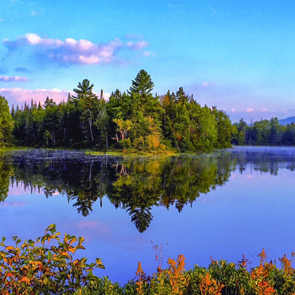 image of a lake in new london